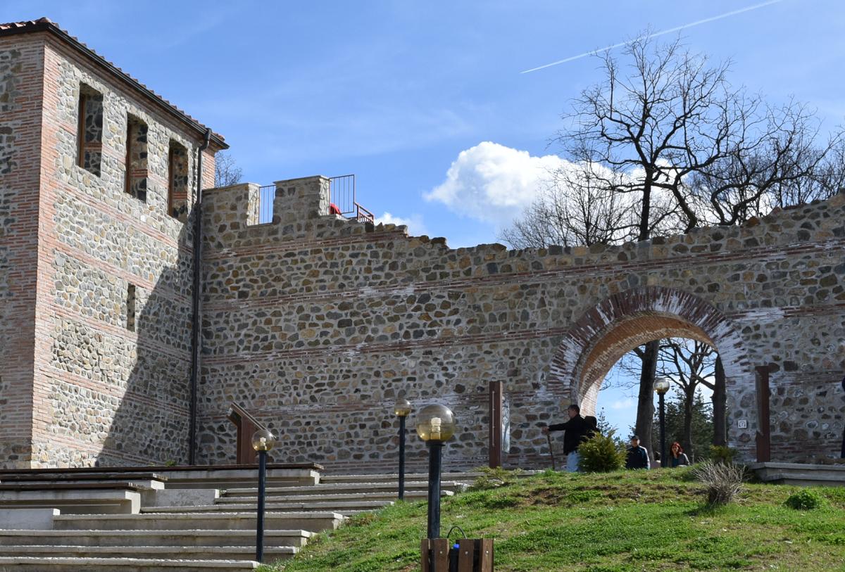 View to the fortress entrance Tsari Mali Grad