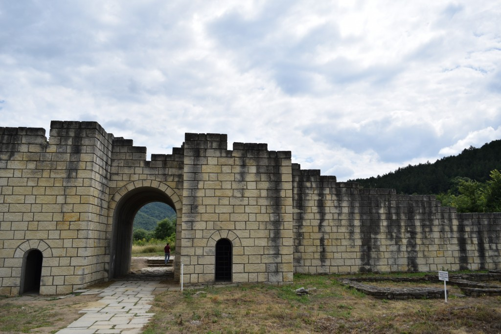 The walls of the inside city of Veliki Preslav, reaching 15 m height